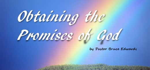 Promises of God by Pastor Bruce Edwards