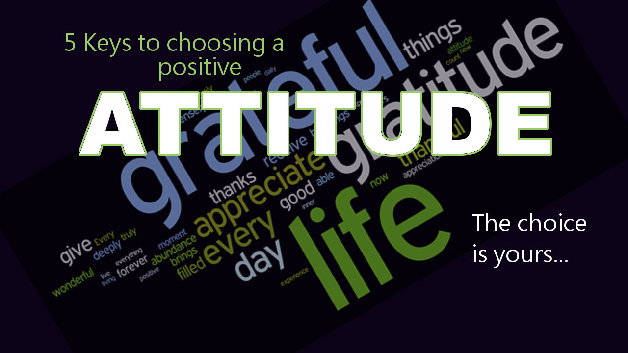 have you got the positive attitude You may find that you are not entirely grateful for what you possess you may believe that you need more than you have right now to be happy if this is the case, then you are absolutely right—you will need more, and you will continue to need more.
