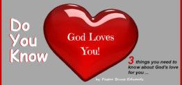God love you by Pastor Bruce Edwards